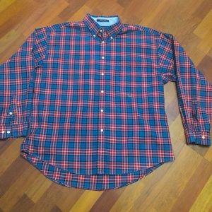 Men's XXL Tommy Hilfiger plaid long sleeve shirt